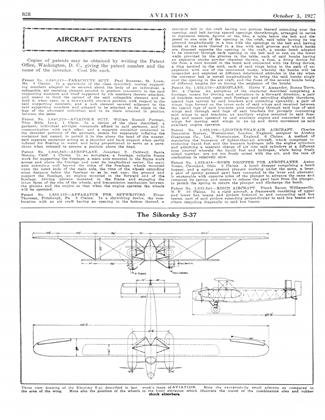 The Sikorsky S-37, Page: 828 - OCTOBER 3, 1927 | Aviation Week