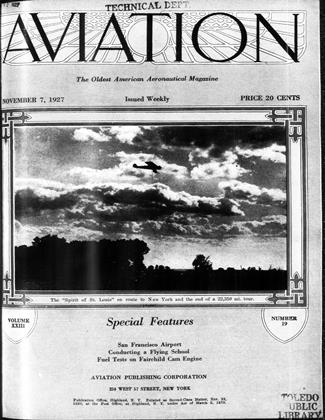 Cover for the November 7 1927 issue