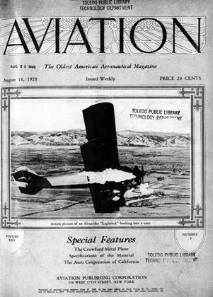 Cover for the August 18 1928 issue