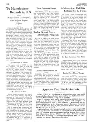 To Test Furniture Firm Plane, Page: 112 - JANUARY 12, 1929 | Aviation Week