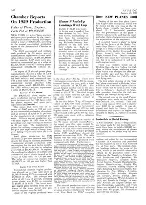 Invincible to Build Factory, Page: 168 - January 25, 1930 | Aviation Week