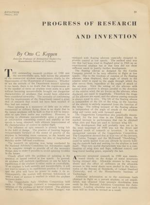 PROGRESS OF RESEARCH AND INVENTION, Page: 39 - JANUARY, 1931 | Aviation Week