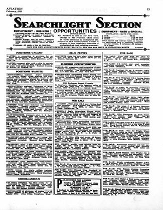 SEARCHLIGHT SECTION, Page: 75a - February, 1931 | Aviation Week