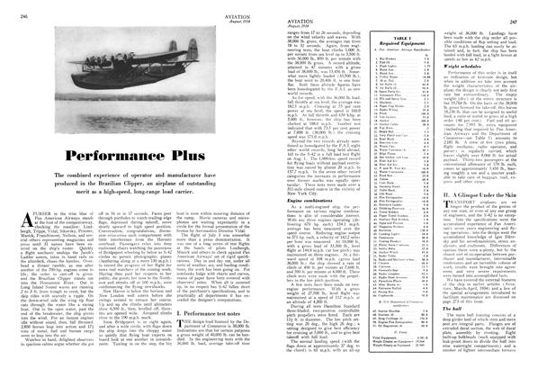 Performance Plus, Page: 246 - AUGUST, 1934 | Aviation Week
