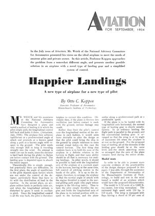 Happier Landings, Page: 275 - SEPTEMBER, 1934 | Aviation Week