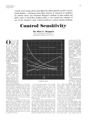 Control Sensitivity, Page: 17 - OCTOBER, 1935 | Aviation Week
