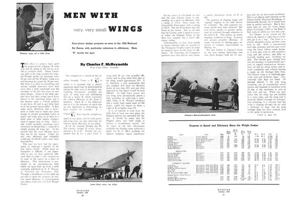 Men with Very, Very Small Wings, Page: 20 - OCTOBER, 1938 | Aviation Week