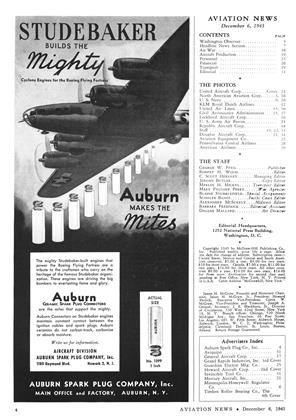 Advertisement, Page: 4 - DECEMBER 6, 1943 | Aviation Week