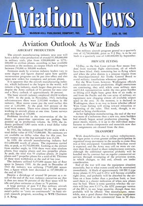 Cover for the August 20 1945 issue