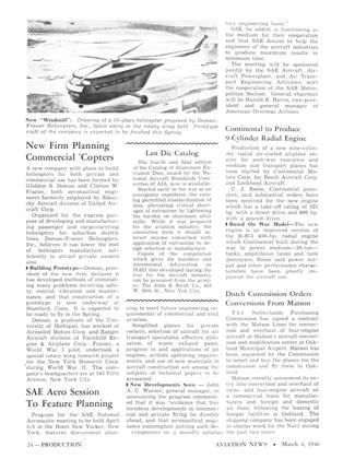 New Firm Planning Commercial 'copters, Page: 24 - MARCH 4, 1946 | Aviation Week