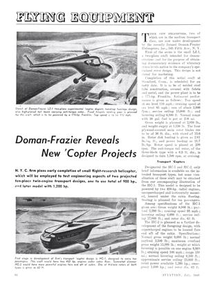 Doman-Frazier Reveals New 'Copter Projects, Page: 86 - JULY 1946 | Aviation Week