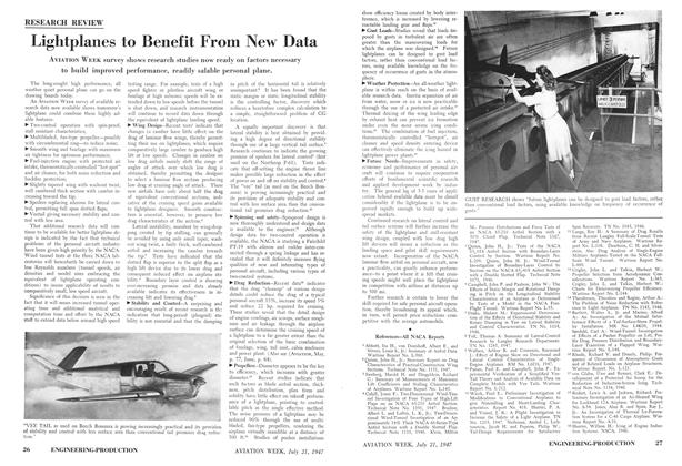 Lightplanes to Benefit From New Data, Page: 26 - JULY 21, 1947 | Aviation Week