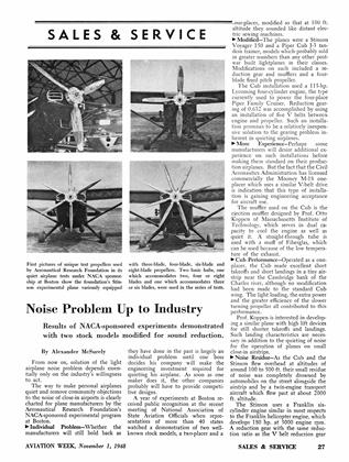 Noise Problem Up to Industry, Page: 27 - NOVEMBER 1,1948 | Aviation Week