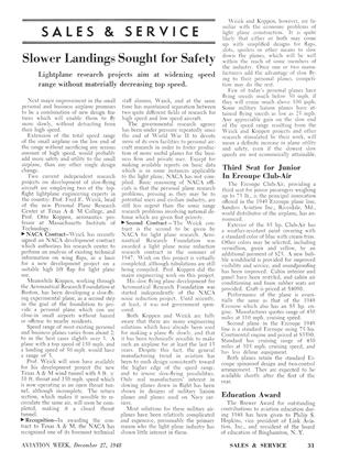 Slower Landings Sought for Safety, Page: 31 - DECEMBER 27, 1948 | Aviation Week