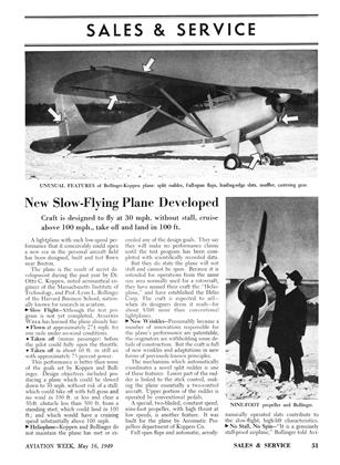 New Slow-flying Plane Developed, Page: 51 - MAY 16, 1949 | Aviation Week