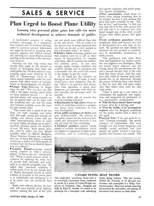 Plan Urged to Boost Plane Utility, Page: 47 - OCT. 17, 1949 | Aviation Week