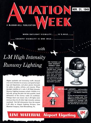 Cover for the November 21 1949 issue