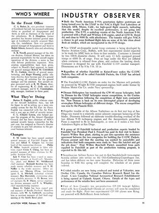 Industry Observer, Page: 11 - FEB. 12, 1951 | Aviation Week