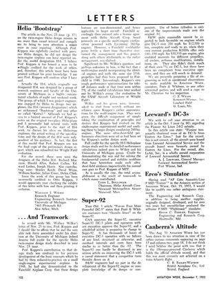 Letters, Page: 122 - DEC. 7, 1953 | Aviation Week
