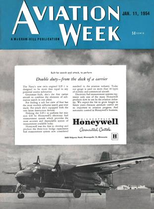 Cover for the January 11 1954 issue