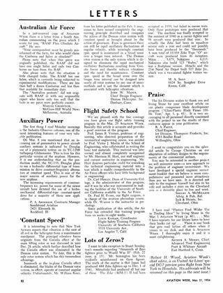 Letters, Page: 82 - MAY, 31, 1954 | Aviation Week