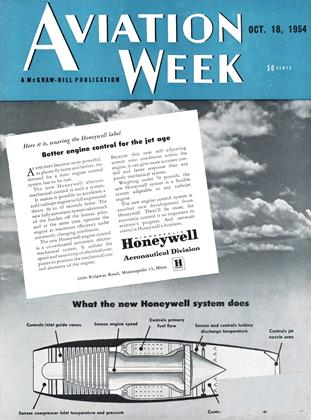 Cover for the October 18 1954 issue