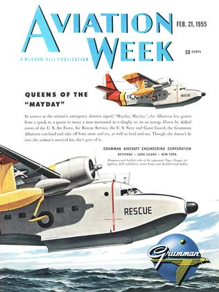 Cover for the February 21 1955 issue
