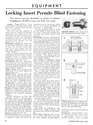 Locking Insert Permits Blind Fastening, Page: 64 - APRIL 4, 1955 | Aviation Week