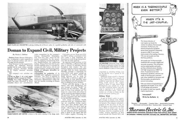 Doman to Expand Civil, Military Projects, Page: 34 - SEPT. 12, 1955 | Aviation Week