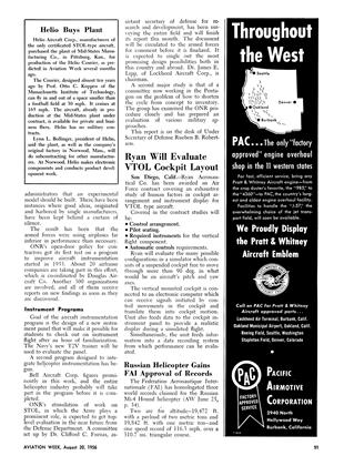 Helio Buys Plant, Page: 91 - August 20, 1956 | Aviation Week
