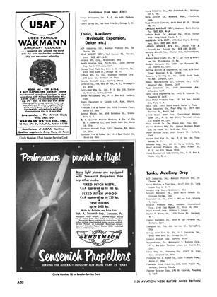 Advertisement, Page: A-50 - MID-DECEMBER 1957 | Aviation Week