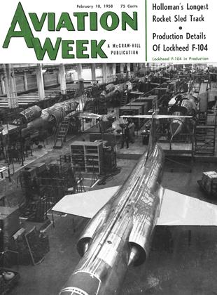 Aviation Week, Page: 1 - February 10, 1958 | Aviation Week