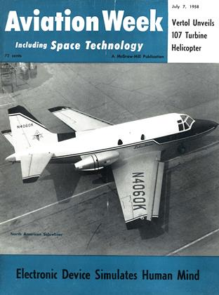 Cover for the July 7 1958 issue