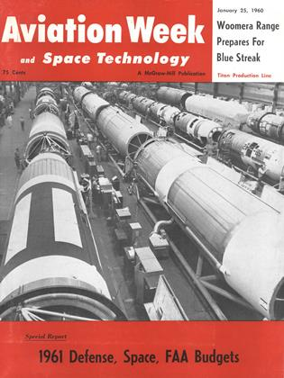Cover for the January 25 1960 issue