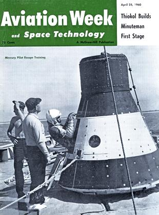 Cover for the April 25 1960 issue