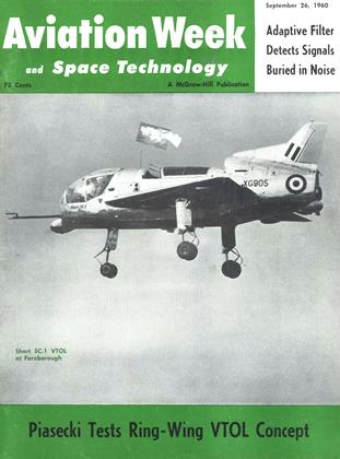 Cover for the September 26 1960 issue