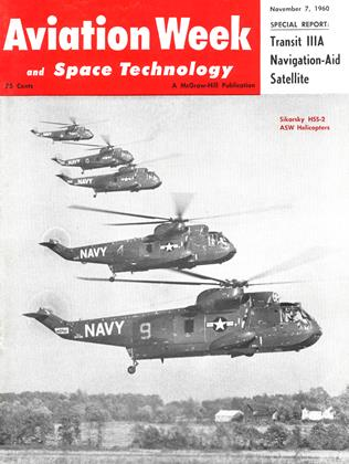 Cover for the November 7 1960 issue
