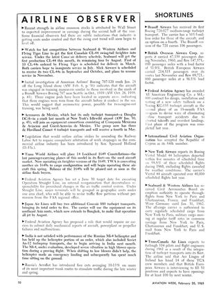 Airline Observer, Page: 50 - February 20, 1961 | Aviation Week