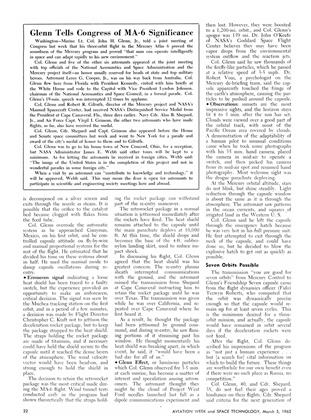 Glenn Tells Congress of MA-6 Significance, Page: 22 - March 5, 1962 | Aviation Week