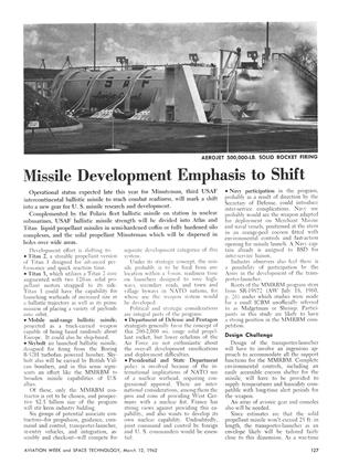 Missile Development Emphasis to Shift, Page: 127 - March 12, 1962 | Aviation Week
