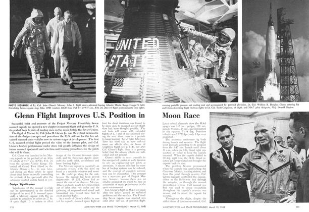 Glenn Flight Improves U.s. Position in Moon Race, Page: 110 - March 12, 1962 | Aviation Week