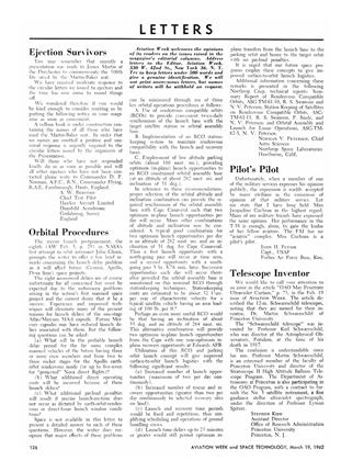 Letters, Page: 126 - March 19, 1962 | Aviation Week