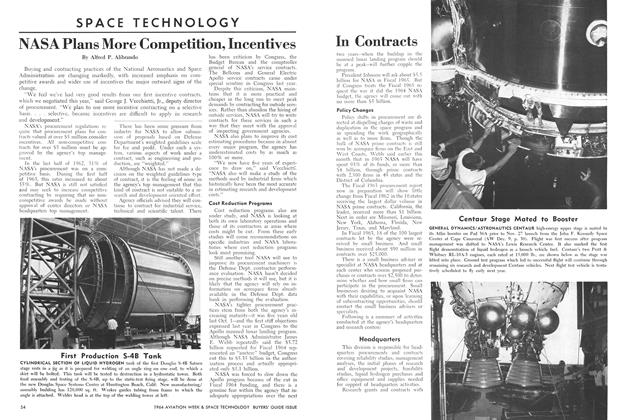 NASA Plans More Competition, Incentives In Contracts, Page: 54 - Mid-December, 1963   Aviation Week