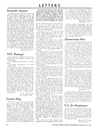 Letters, Page: 72 - December 30, 1963   Aviation Week
