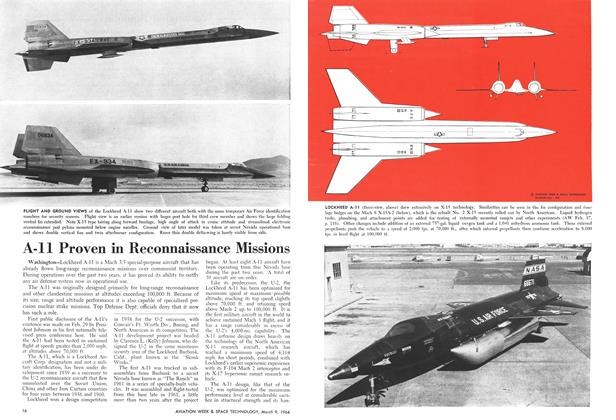 A-ll Proven in Reconnaissance Missions, Page: 16 - March 9, 1964   Aviation Week