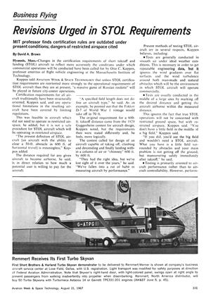 Revisions Urged in Stol Requirements, Page: 111 - August 21, 1967 | Aviation Week