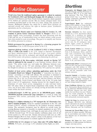 Airline Observer, Page: 50 - May 20, 1968 | Aviation Week