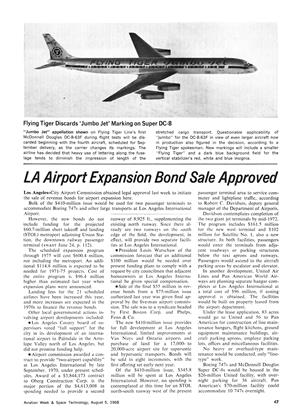 La Airport Expansion Bond Sale Approved, Page: 47 - August 5, 1968   Aviation Week