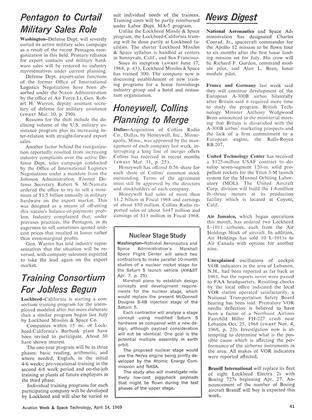 News Digest, Page: 41 - April 14, 1969 | Aviation Week