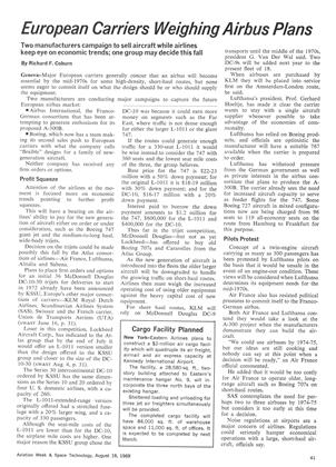 European Carriers Weighing Airbus Plans, Page: 41 - August 18, 1969 | Aviation Week